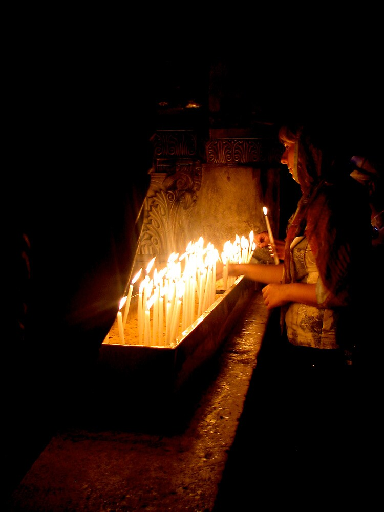 Church of the Holy Sepulchre, Candles 2 by Michael Berns