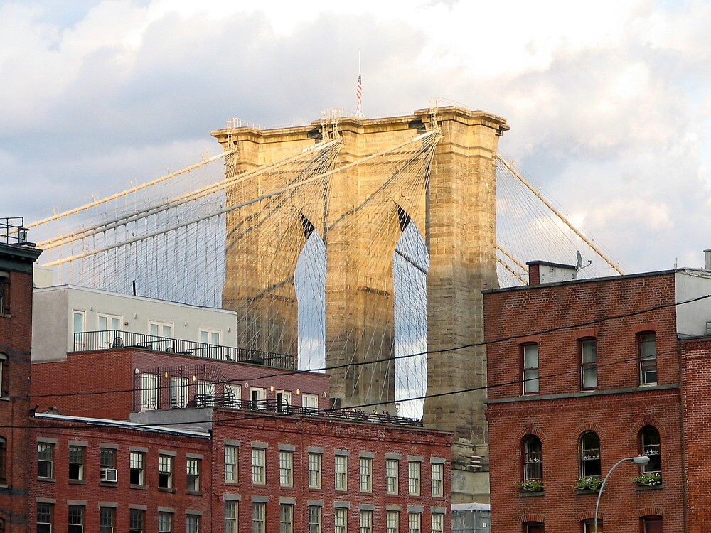 Brooklyn Bridge from South Street Seaport by Michael Berns