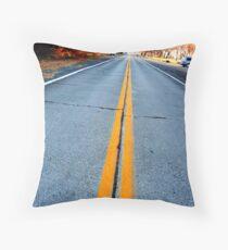 Traveled, Worn Road Throw Pillow