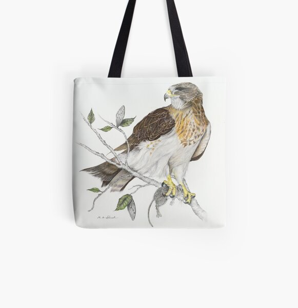 Swainson's Hawk Pillows and Totes All Over Print Tote Bag