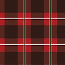 Red and Black Plaid with Green Stripes by Samm Poirier