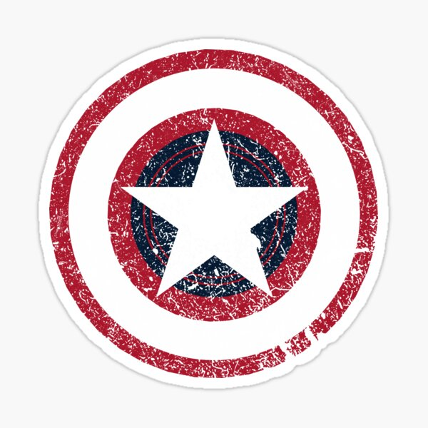 America Hero Logo Vintage Sticker