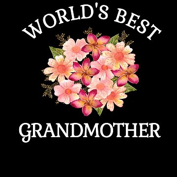 World's Best Grandmother Beautiful Gifts Ideas For Grandmas Peach Floral Bouquet by hustlagirl