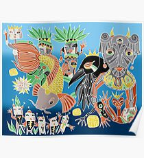 the koi the crow and elephant shaman Poster