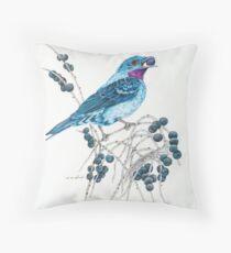 Natterer's Cotinga Pillows and Totes Throw Pillow