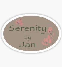 Pegatina serenidad por enero