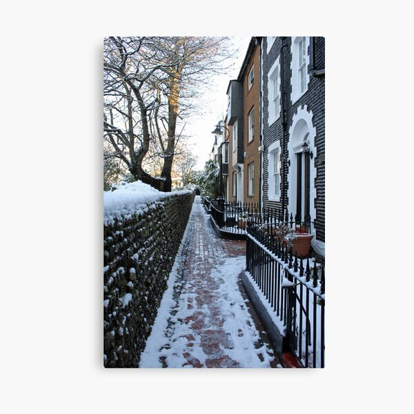 St. James's Place in the snow Canvas Print