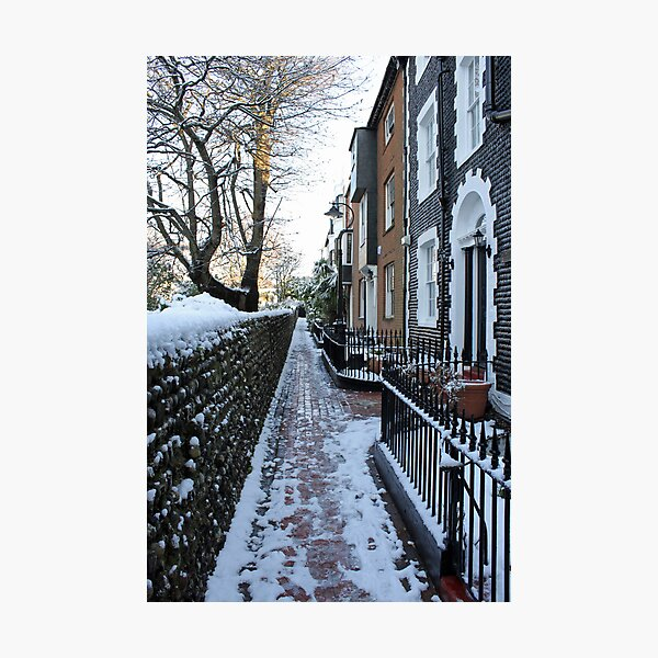 St. James's Place in the snow Photographic Print