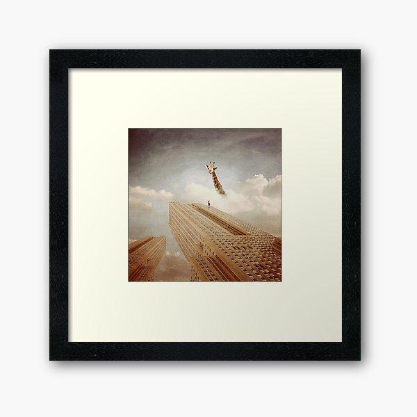 In the world of gigantics Framed Art Print
