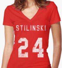 Stilinski Jersey Women's Fitted V-Neck T-Shirt
