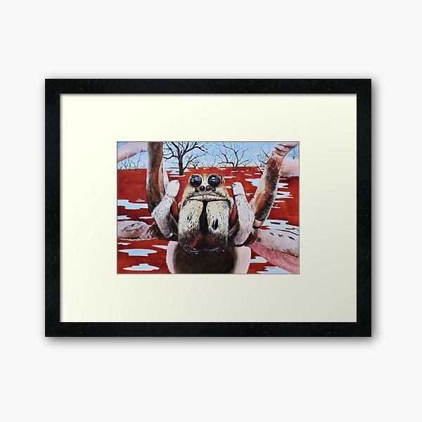 """Menindee Wolf"" - wolf spider painting Framed Art Print"