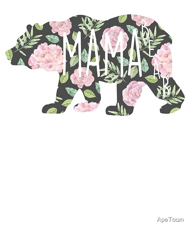 Floral Bear Silhouettes-Toddler