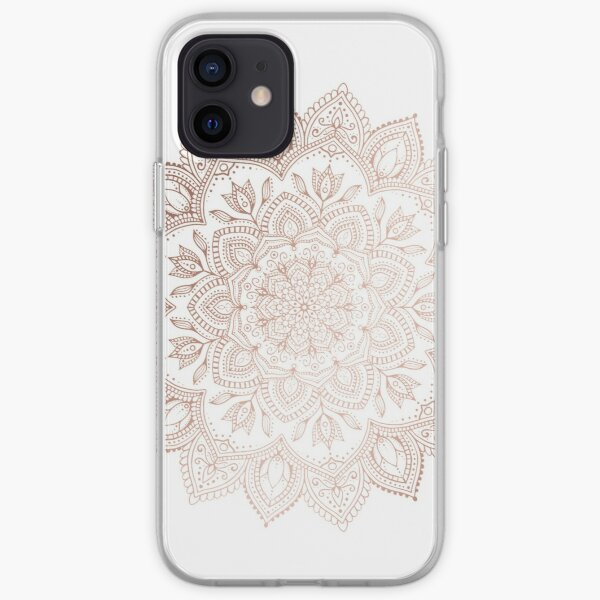 Boho Mandala - Rosegold iPhone Soft Case