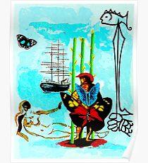 DALI: Vintage Dream of Freedom abstrakter Druck Poster
