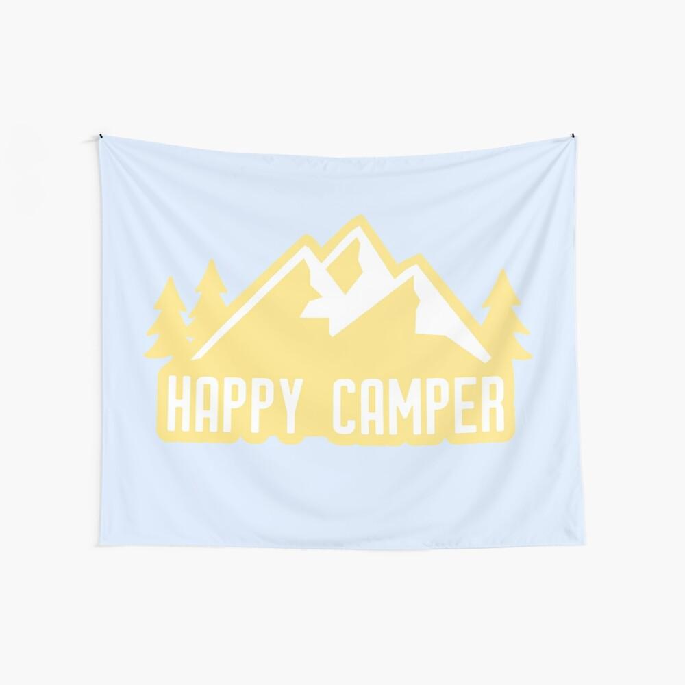 Happy Camper (montañas amarillas) Tela decorativa