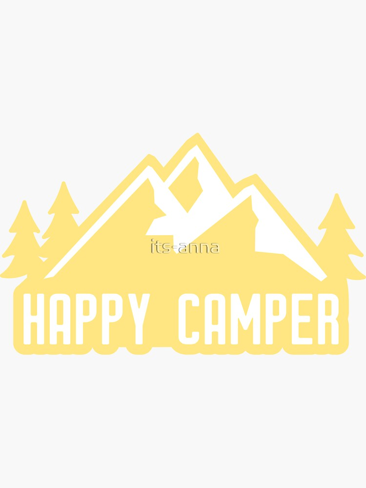Happy Camper (montañas amarillas) de its-anna