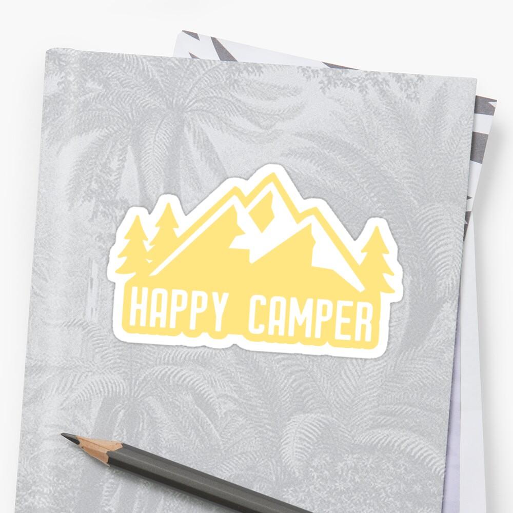 «Happy Camper (montañas amarillas)» de its-anna