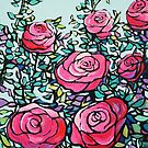Pink Roses by Alison Newth