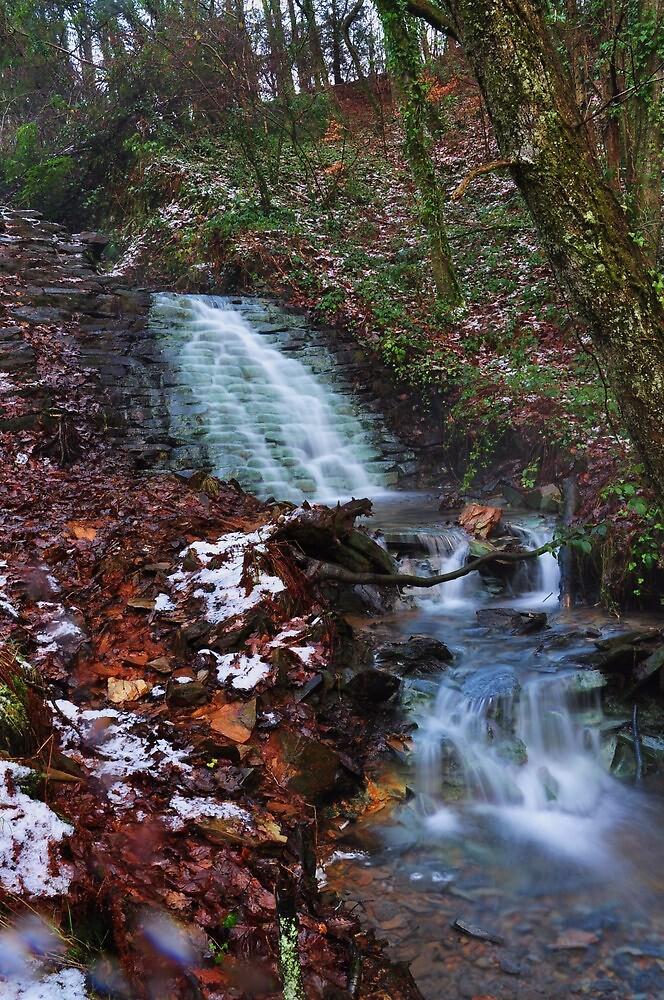 Gunnislake stream waterfall by MrB1980