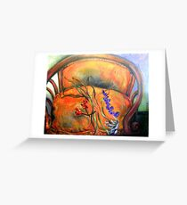 French Chair, Bouquet  Greeting Card