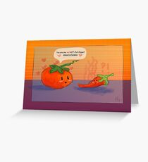 Tomato Hearts Pepper Greeting Card