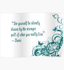 Rumi Love Quote Poster