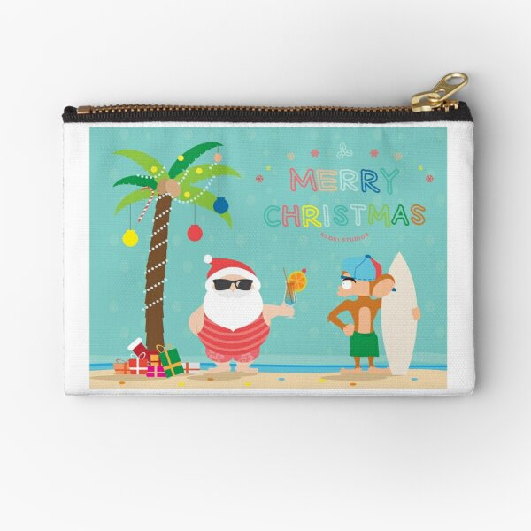 Christmas Card with Nate Zipper Pouch