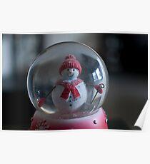 Snowman Globe  Poster