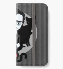 Edgar Allan Poe Étui portefeuille/coque/skin iPhone
