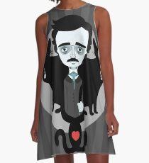 Edgar Allan Poe A-Linien Kleid