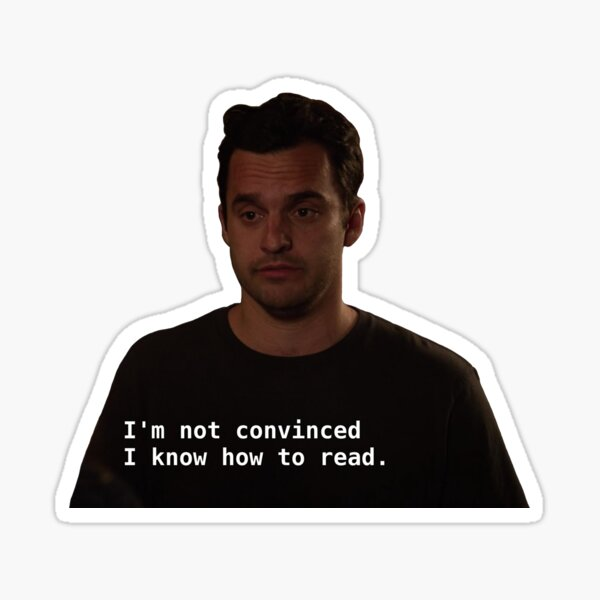 nick miller Sticker