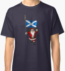 Santa Claus With Flag Of Scotland Classic T-Shirt