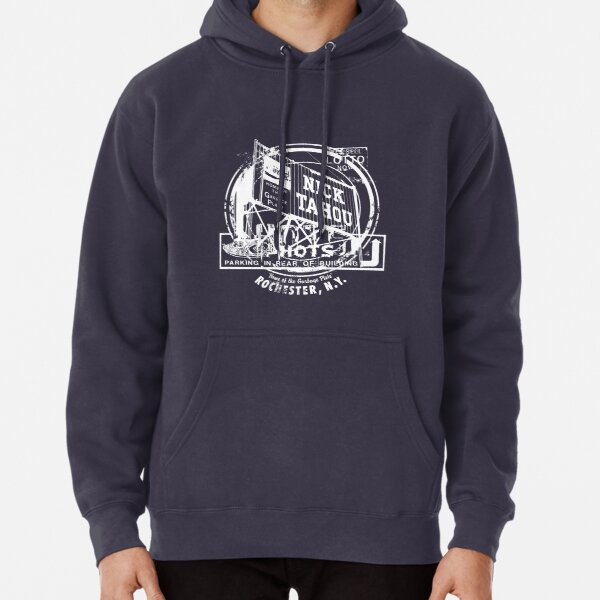 Rochester Hots Garbage Plate (White Print) Pullover Hoodie