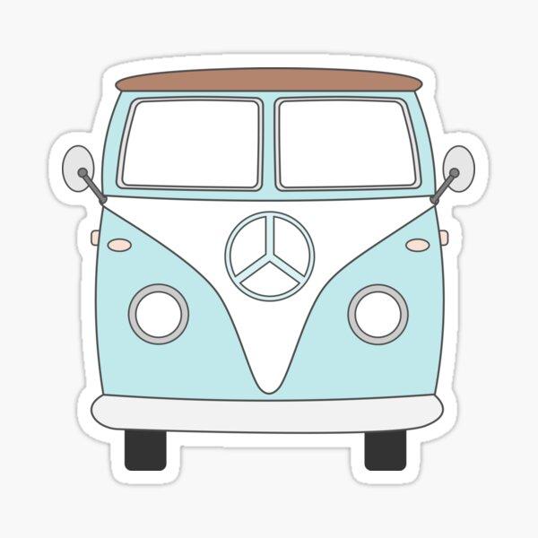 Hippie Van - hippie life - I'm a lil hippie - Stickers, T-Shirts, and More! Sticker