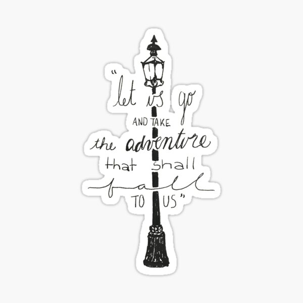 Narnia quote Sticker
