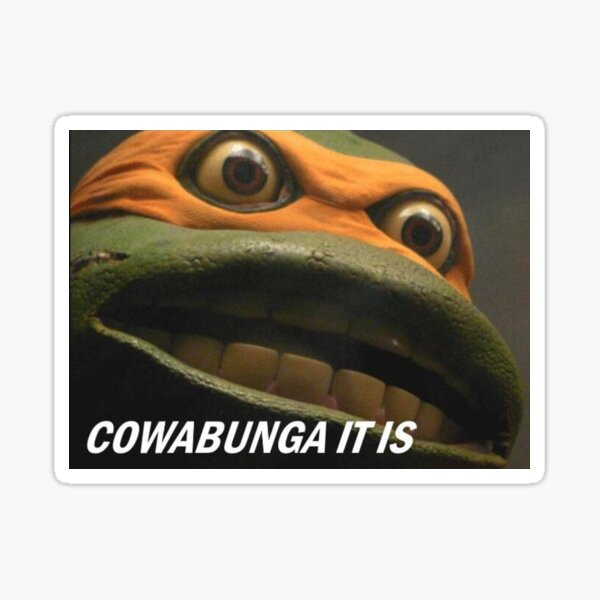 COWABUNGA IT IS Sticker