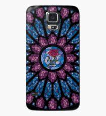 Glasmalerei Rose Hülle & Klebefolie für Samsung Galaxy