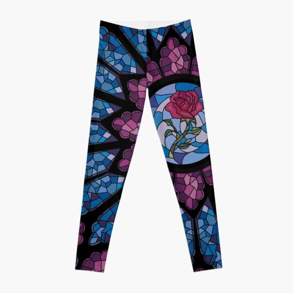Stained Glass Rose Leggings