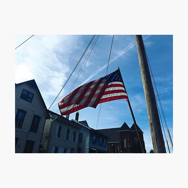 American Flag on Spring Photographic Print