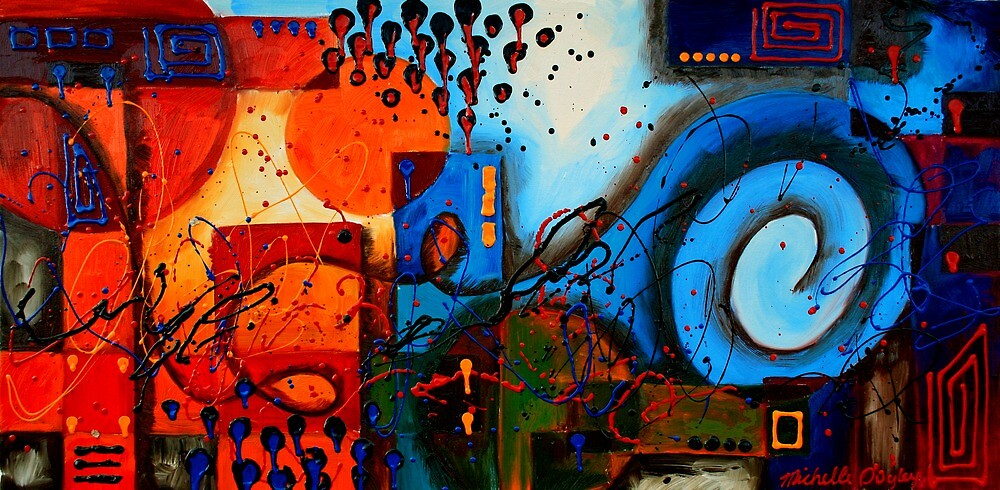 Warm City Cool Sea by Abstract D'Oyley