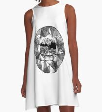 Nature is Precious - Original pen and ink illustrated design A-Line Dress