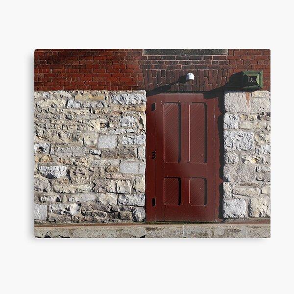 Gamble Mill Door Metal Print