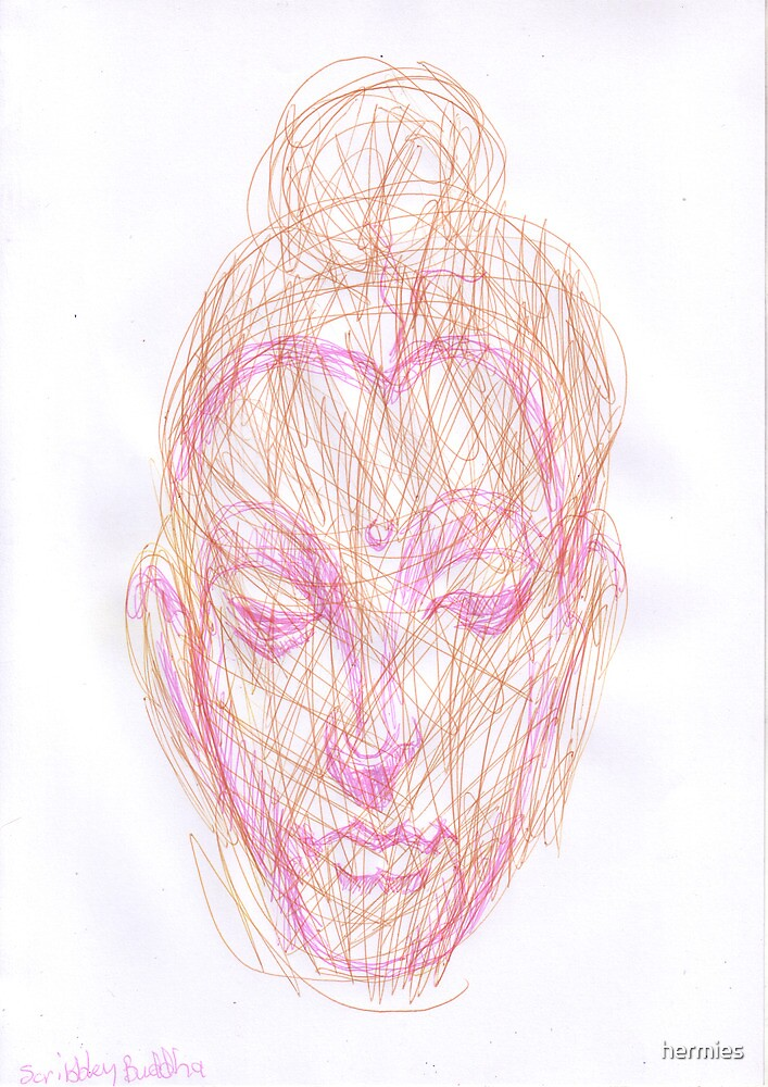 scribbley faced buddha by hermies