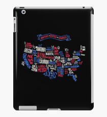 USA Word Map iPad Case/Skin