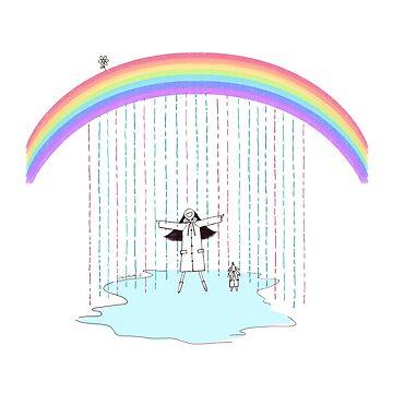 Rainbow Rain by Dollgift