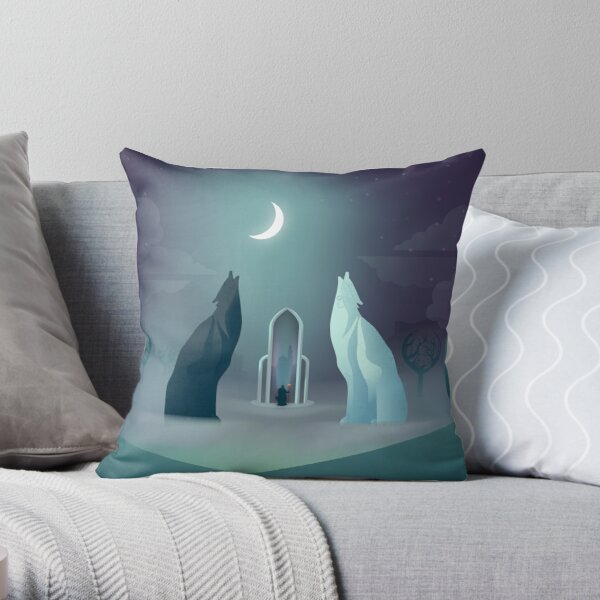 Solas in the Crossroads Throw Pillow