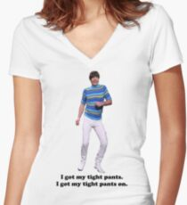 Tight Pants Women's Fitted V-Neck T-Shirt