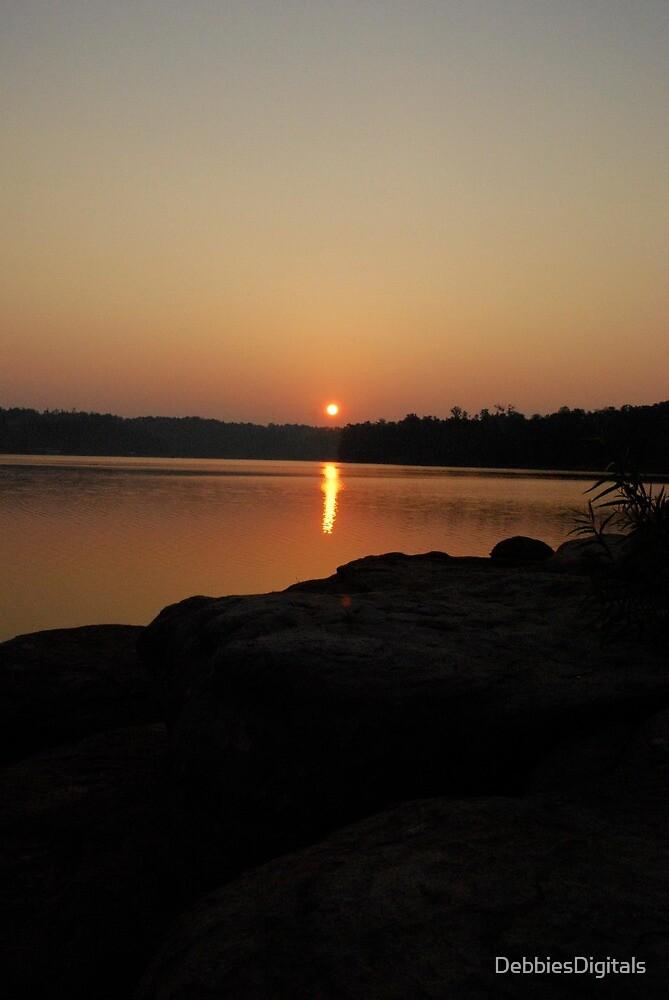 Sunrise over Lake in Smith Lake, AL by DebbiesDigitals
