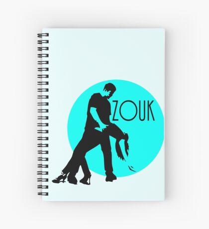 zouk dancers - blue moon Spiral Notebook