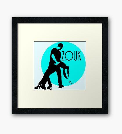zouk dancers - blue moon Framed Print